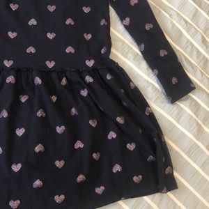 H&M girls navy heart dress